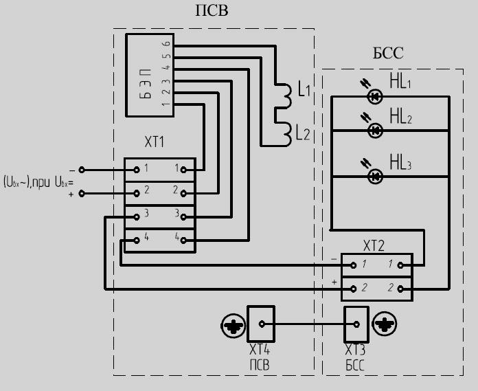 Электрическая схема постов